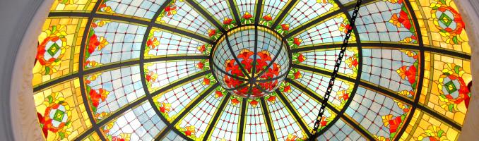 Leaded Glass Skylight Dome