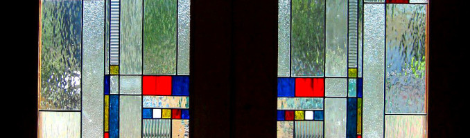 Leaded Glass French Door Progressive Art Stained Glass