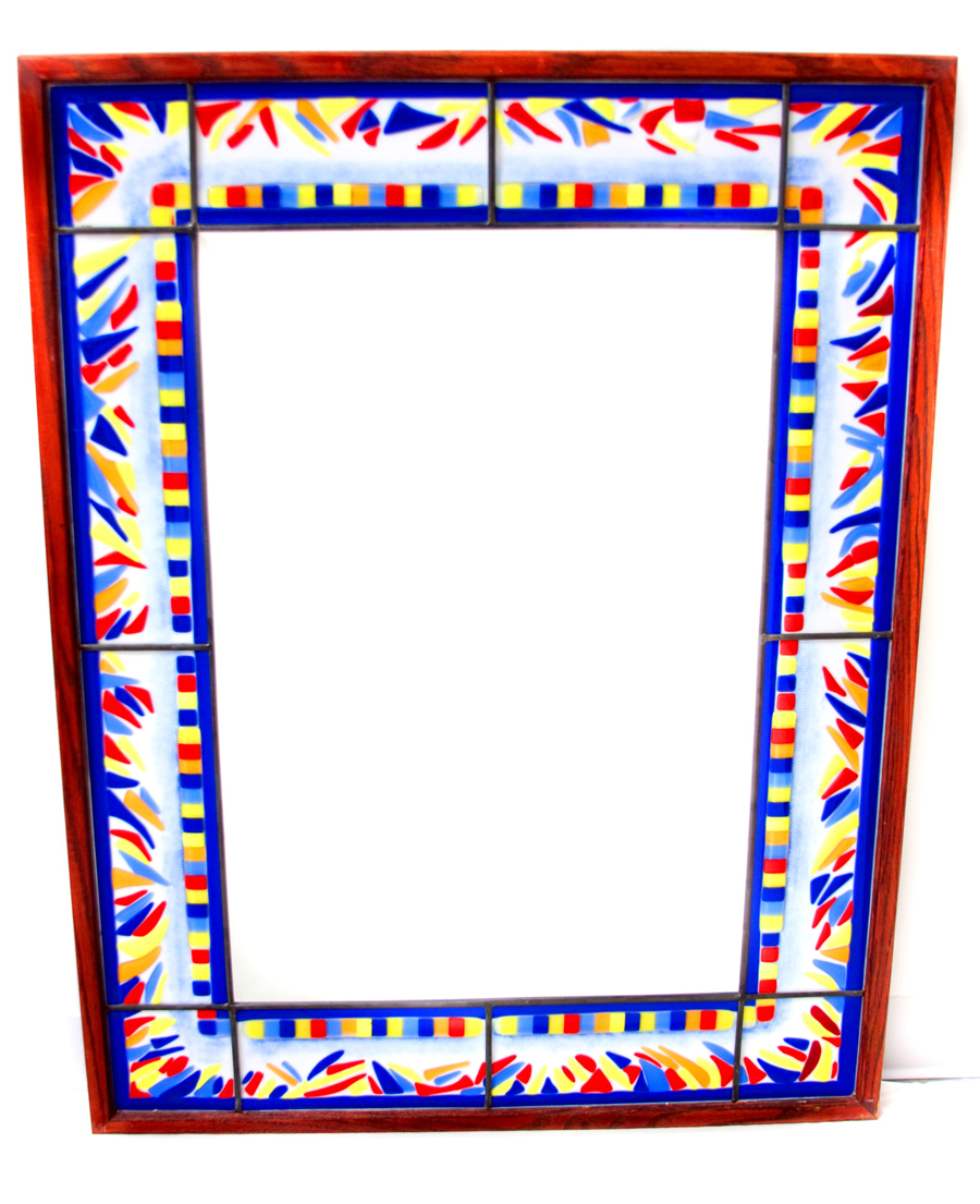 Leaded & Fused Glass Mirror