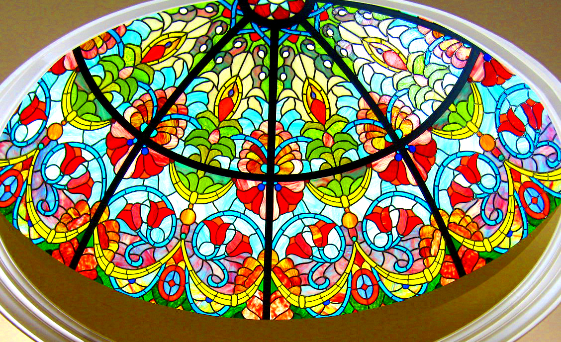 Leaded Glass Skylight Dome