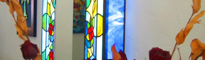 Leaded Glass Lightbox Mirror